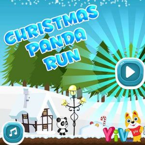 Christmas Panda Run-→Best free online parkour game