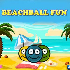 Crazy beach ball game online for kids