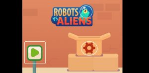 How to play Robots vs. Aliens Game step 1