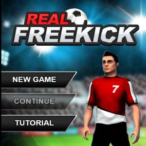 How to be a Soccer Player in Real Freekick Games Flash Play step1